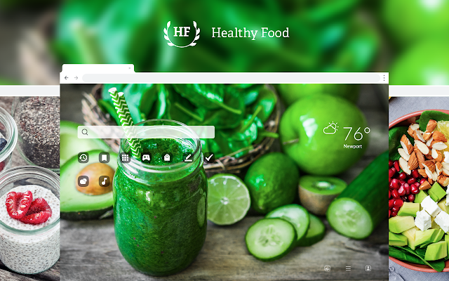 Healthy Food HD Wallpaper New Tab Theme