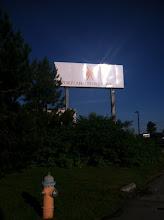Photo: Billboard sign for Portland Power Yoga in Portland, ME