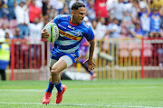 Herschel Jantjies scores a try during the Super Rugby game between the Stormers and the Hurricanes at Newlands Rugby Stadium in Cape Town on February 1 2020.