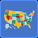 US Map Quiz - 50 States Quiz - US States Quiz icon
