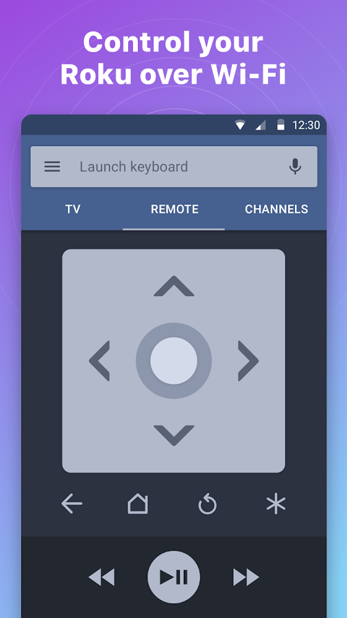 Remote for Roku -- RoByte- screenshot