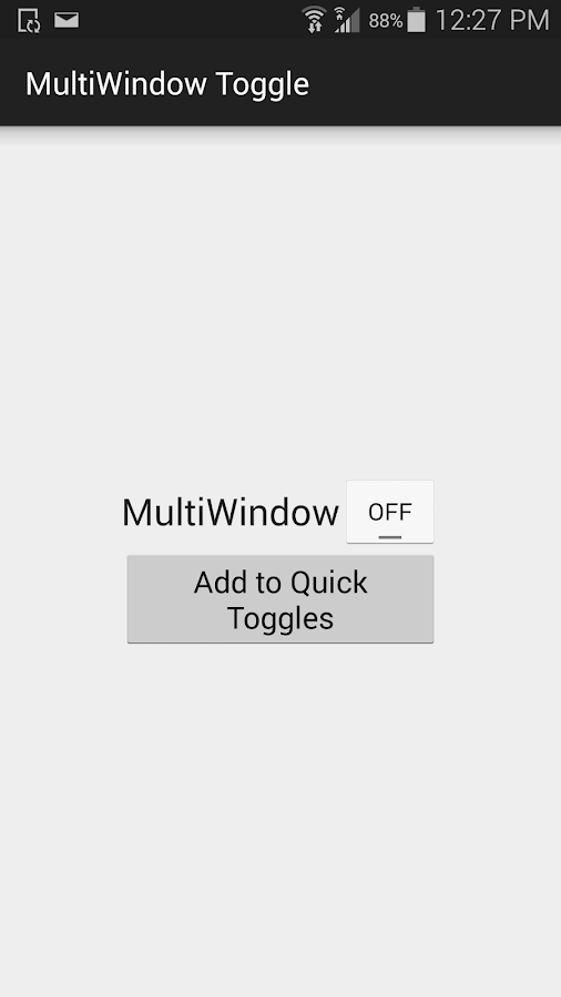 MultiWindow Toggle for Samsung- screenshot
