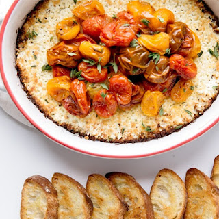 Baked Goat Cheese & Herb Roasted Tomatoes