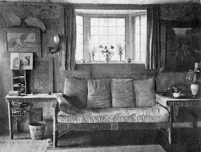"""Photo: 1903 a sofa in the cottage """"Pennyroyal""""."""