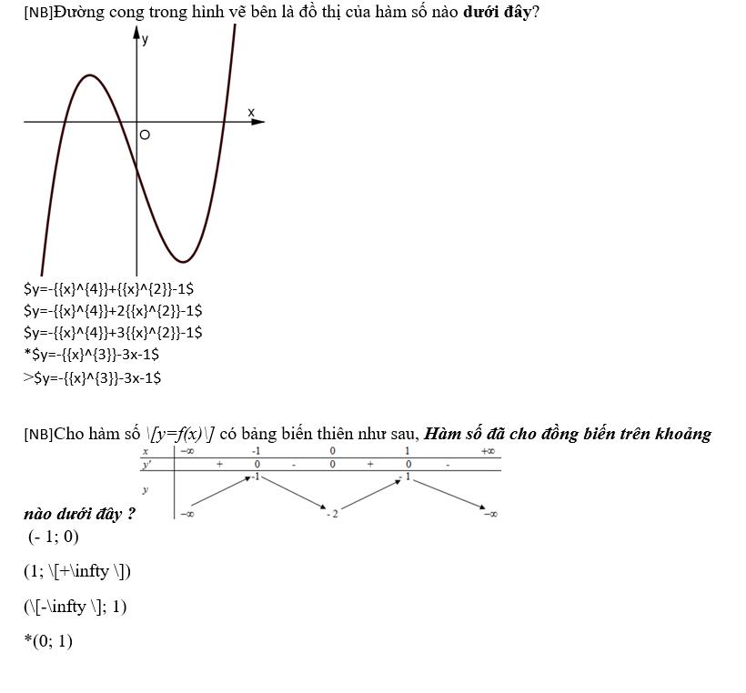Hình 2.4: Một số lưu ý đối với đề thi có công thức toán học