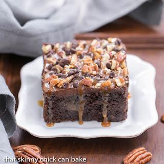 Turtle Poke Cake