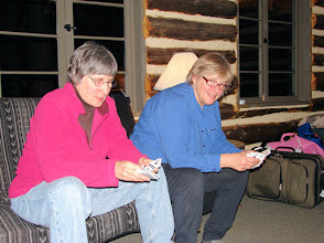 Photo: Jane and Linda prepare the spoons decks.