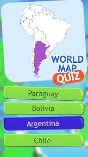 Mapa Světa Kvíz Zeměpisná Hra - náhled