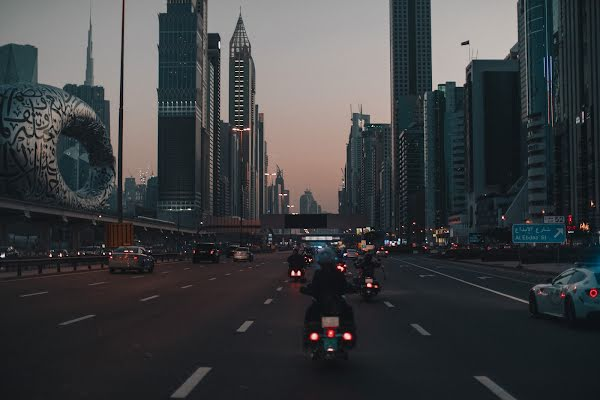 Motorcyclists in the UAE