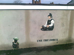 Photo: Use The Force - Street art by JPS