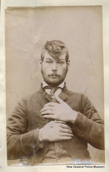 Photo: Richard Wickham (b. 1868). Charged with robbery and sentenced to two years in gaol on 1 September 1890 [Wellington]. Photograph taken on 6 August 1890.