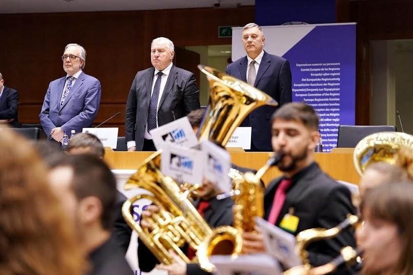 La Joven Banda de Música en Bruselas