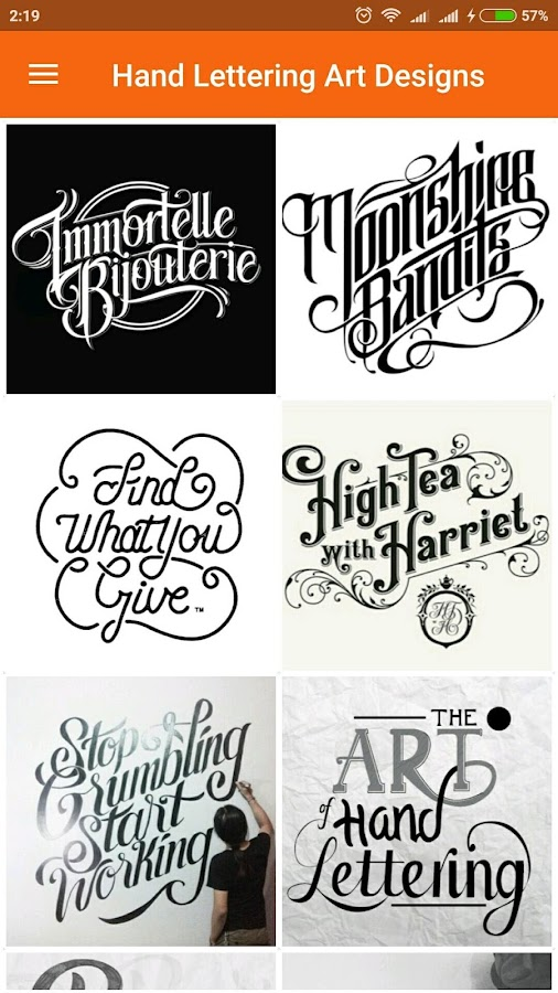 hand lettering art design screenshot