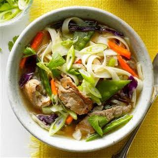 Asian Long Noodle Soup.