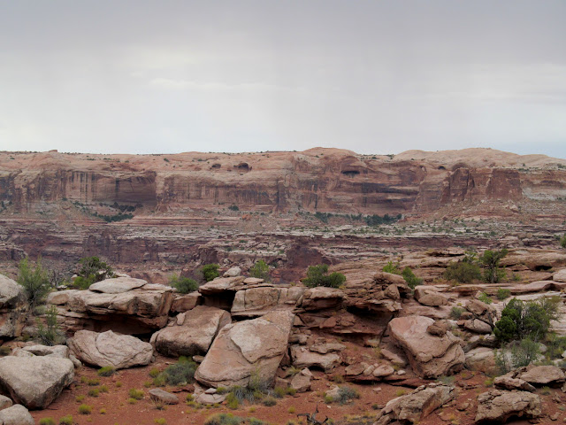 Colonnade Arch on the opposite rim of Labyrinth Canyon