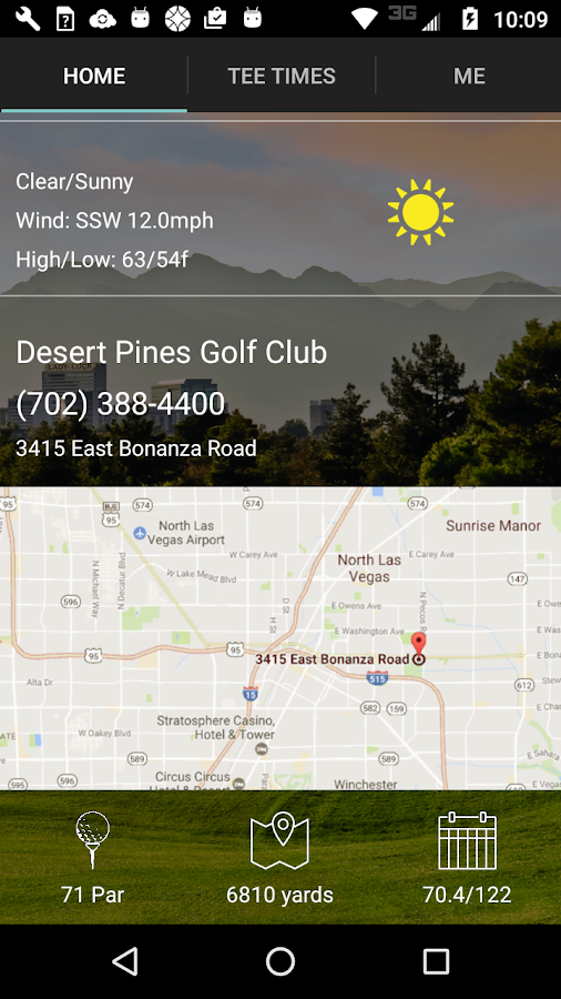 Desert Pines Tee Times- screenshot