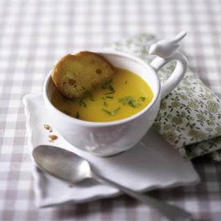 Pumpkin Soup With Nutmeg.