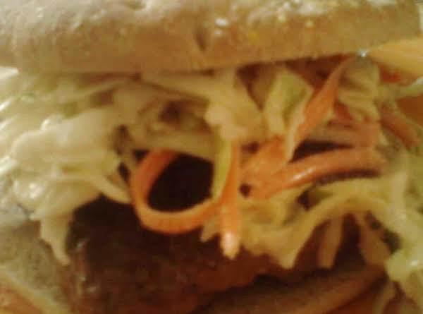Asian Burger W/ Asian Slaw
