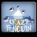 crazy penguin in iceland icon