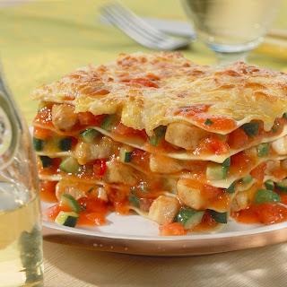Hühner-Gemüse-Lasagne