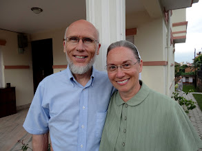 Photo: Merle & Judy Flory. They came all the way from Ellensburg, Washington to serve as guest teacher with MTM. Merle & Judy first visited Chiang Mai, Thailand before traveling with us to Nepal. Merle and Judy will be moving to Chiang Mai, Thailand andjoining MTM as assistant director later this year. Pray for them as they prepare to make the move to Thailand and Make Disciples Of All Nations.Our love and prayers are with you Merle & Judy ~ Raymond & Naomi