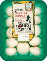 The Honest Farmer Irish Closed Cup Mushrooms - 225g