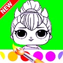 Dolls Coloring Book surprise icon
