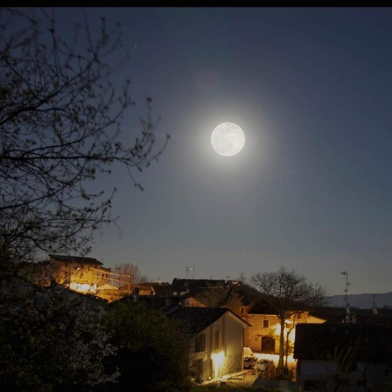 Moon over the village  di stefano_aiello
