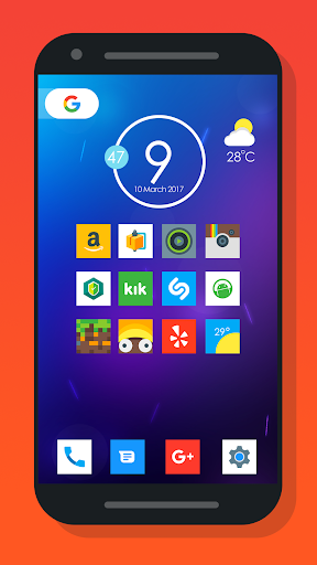 Oreo Square - Icon pack Appar (APK) gratis nedladdning för Android/PC/Windows screenshot