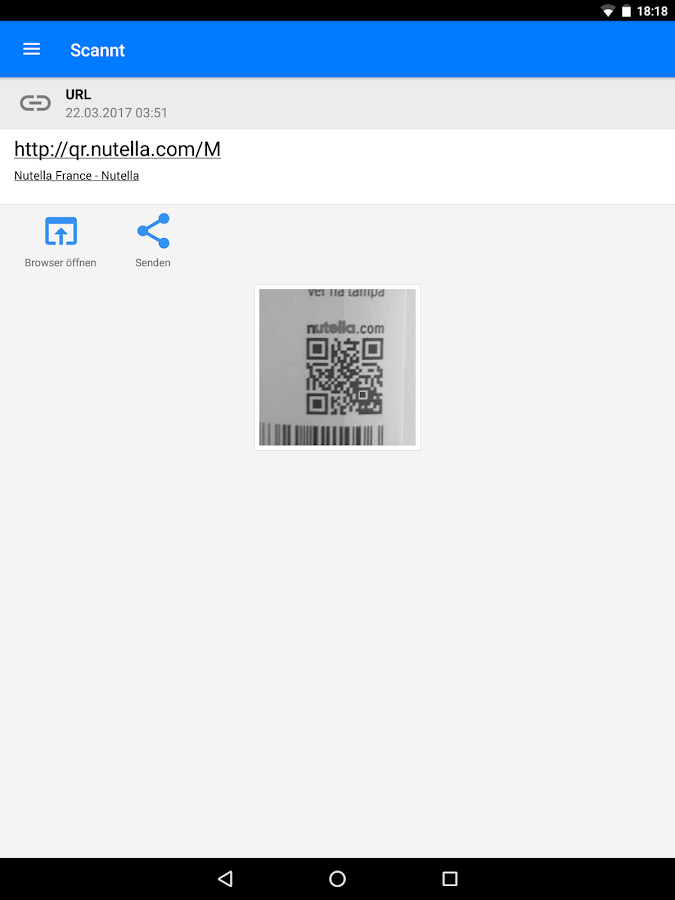 QR & Barcode Scanner PRO – Screenshot