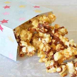 Chocolate Hazelnut Caramel Popcorn