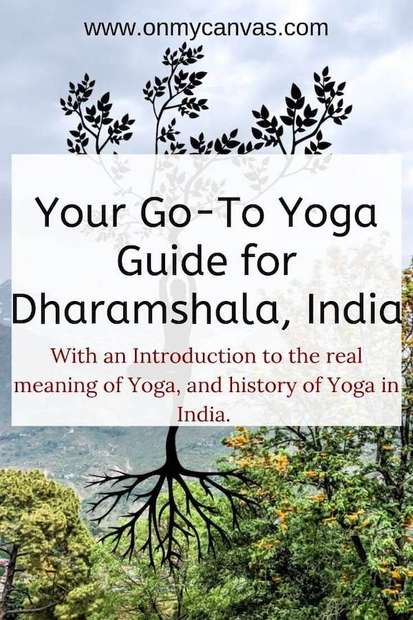 pinterest image for yoga in dharamshala india