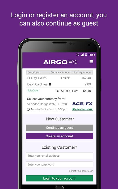 AIRGOFX - Order Currency- screenshot