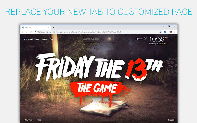 Friday The 13th Backgrounds HD Custom New Tab