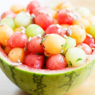 Three Melon Salad with Basil.