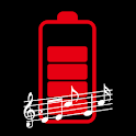 Battery charge sound alert icon