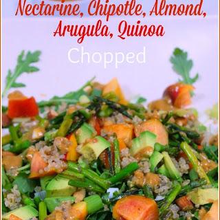 Nectarine, Chipotle, Almond,, Arugula, Quinoa Chopped