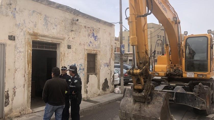 Imagen de archivo de demoliciones en el Barrio Alto de Almería.