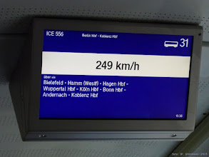 """Photo: Wyświetlacz wewnątrz Tz 208 """"Bonn"""" (DB) {w pobliżu Moeringen (Altm); 2015-09-23}"""
