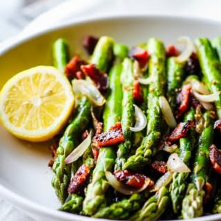 Peppered Candied Bacon and Asparagus {Paleo, Gluten Free}.