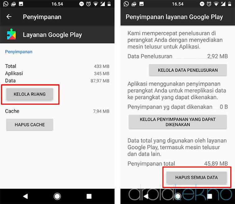 Cara mengatasi google Play Store Error Code 492