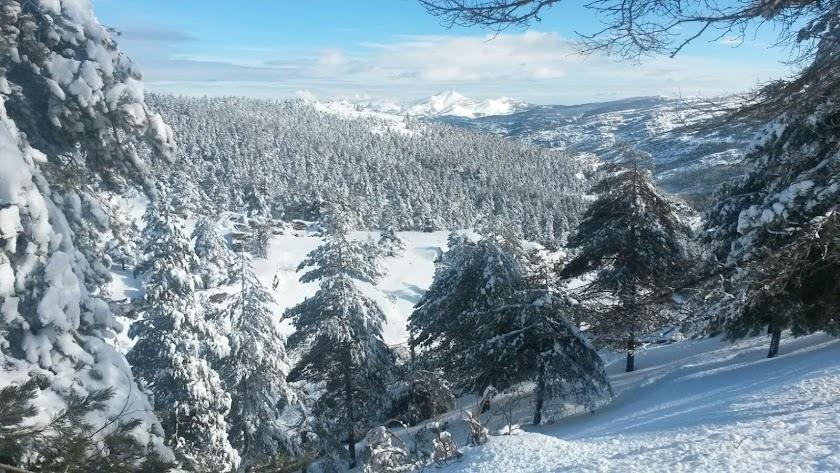 El espectáculo de la nieve preside Sierra Filabres.
