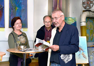 """Photo: AUSSTELLUNG KARIN OSTERTAG & WERNER LIEBHARD - Künstlergruppe """"WOLK"""" Oktober 2015. Werner Liebhard. Foto: Barbara Zeininger"""