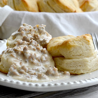 Homemade Biscuits and Gravy.