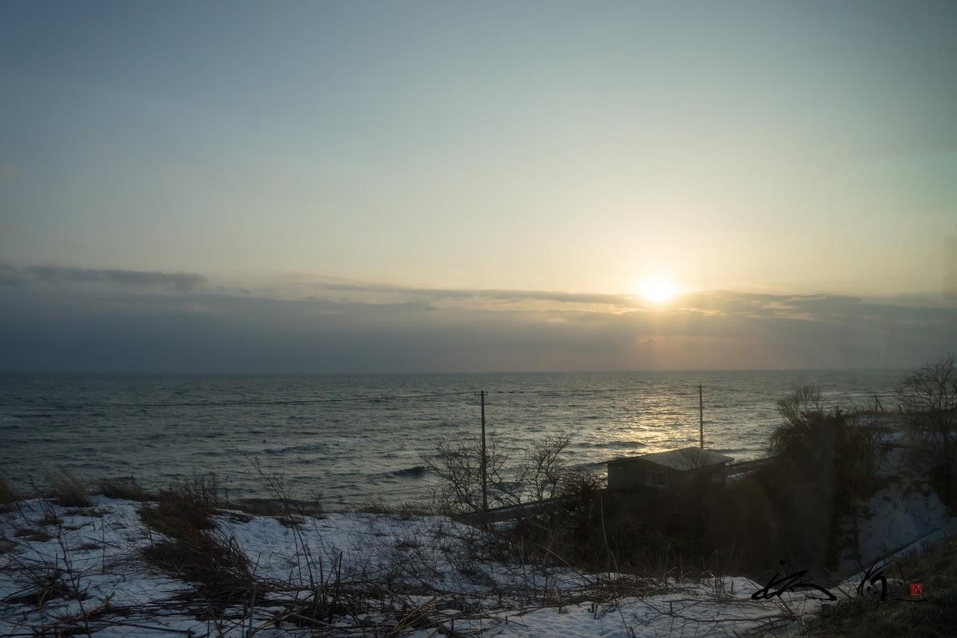 太平洋に沈む夕陽