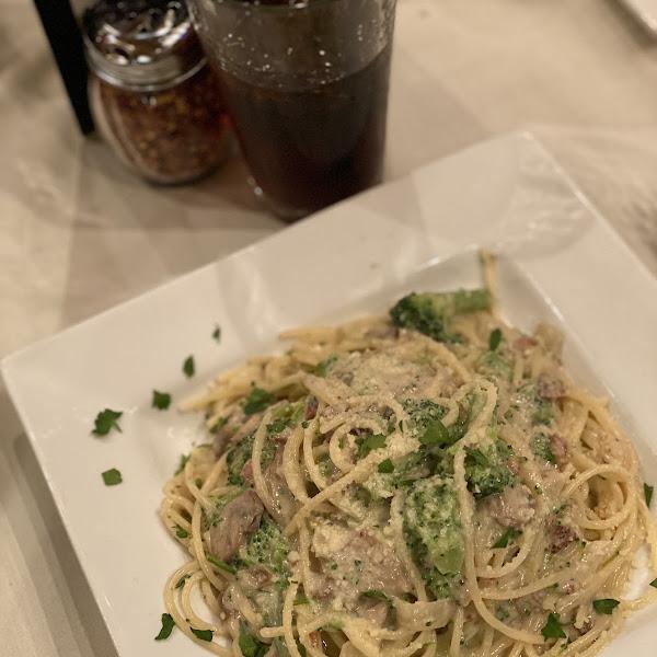 loaded alfredo w/ gf spaghetti noodles