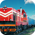 Cargo Transporter Train Sim 3D icon