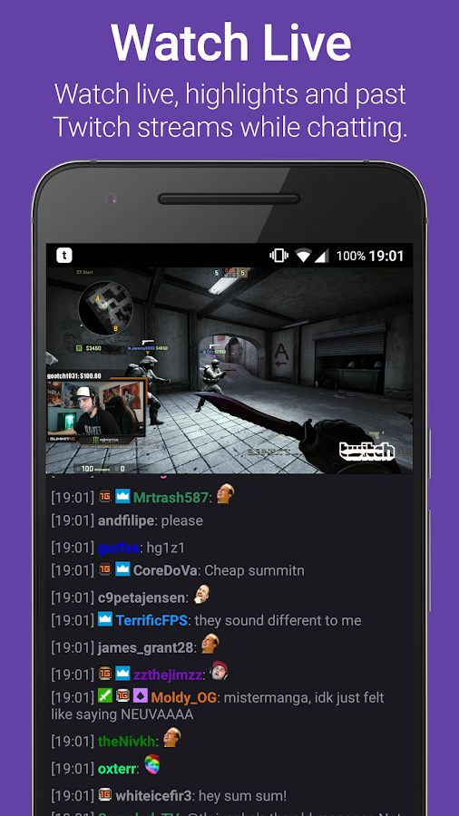 TChat for Twitch- screenshot
