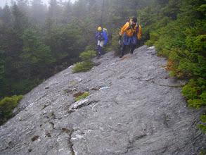 Photo: ...leads to a steep ledge.