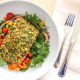 Pistachio Herb Crusted Salmon.